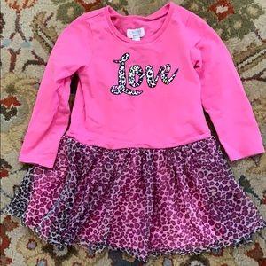 3T Children's Place pink Love dress